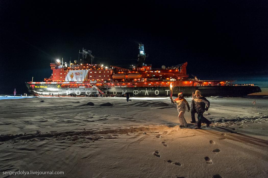 距離目標只剩∞!北極夜晚的破冰船14