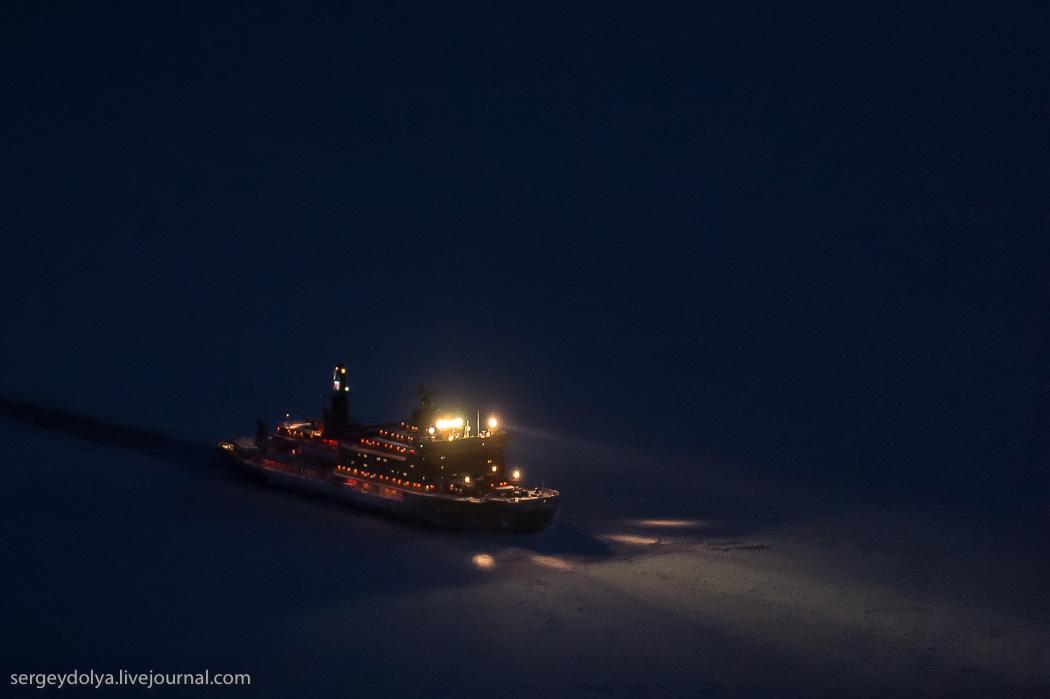 距離目標只剩∞!北極夜晚的破冰船3