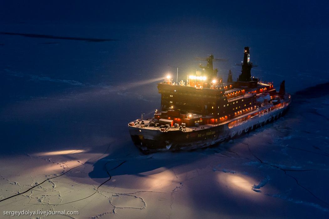 距離目標只剩∞!北極夜晚的破冰船5