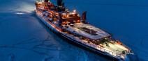 距離目標只剩∞!北極黑夜獨行的破冰船0