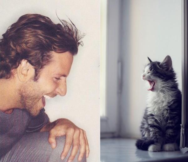 還是一樣性感!男人與貓做一樣的動作1