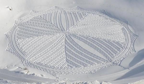 他走過的路會留下美麗的雪花痕跡!15