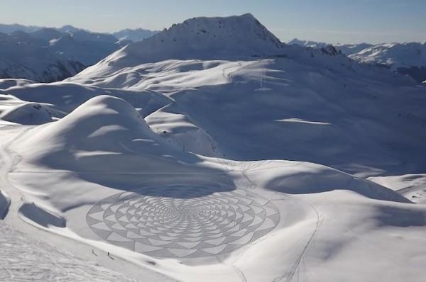 他走過的路會留下美麗的雪花痕跡!6
