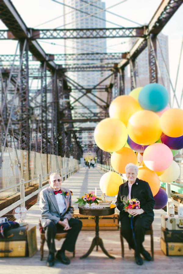 天外奇蹟結婚紀念照!拍的是結婚61年可愛阿公阿嬤1