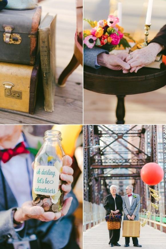 天外奇蹟結婚紀念照!拍的是結婚61年可愛阿公阿嬤10