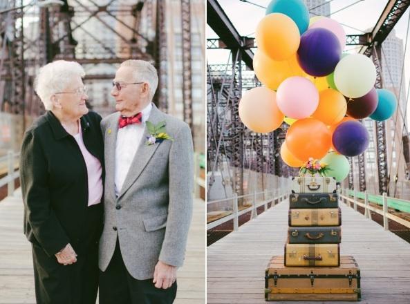 天外奇蹟結婚紀念照!拍的是結婚61年可愛阿公阿嬤11