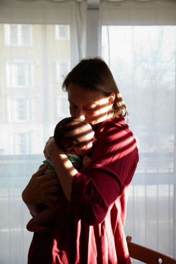 媽媽和新生一天大寶寶合照,只有感動11