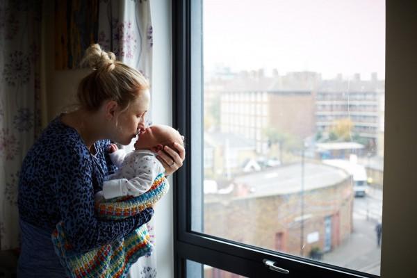 媽媽和新生一天大寶寶合照,只有感動3