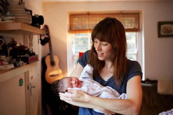 媽媽和新生一天大寶寶合照,只有感動4