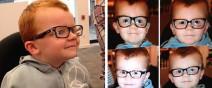 小孩戴眼鏡怕醜,臉書上萬人一起安慰他!
