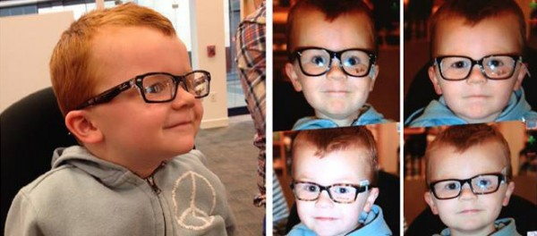 小孩戴眼鏡怕醜,臉書上萬人一起安慰他!1