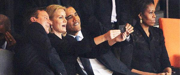 歐巴馬在喪禮上自拍!......你還好嗎?