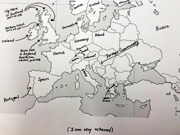 美國人回答歐洲國家分布,好笑又慘不忍睹13