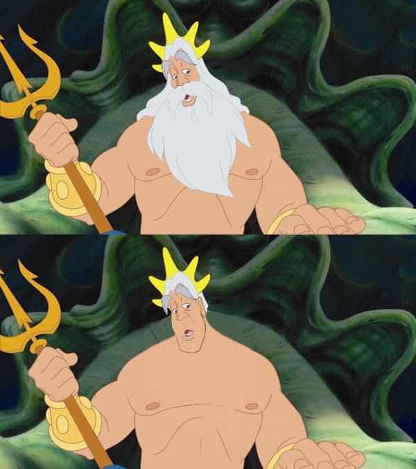 迪士尼裡的男人們失去鬍子,變很雞肋1