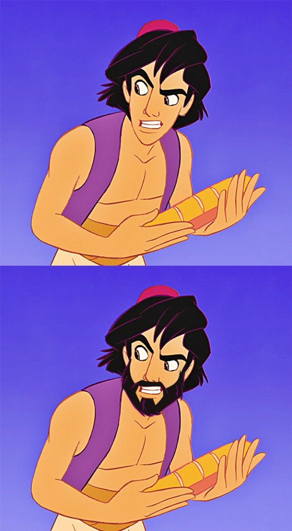迪士尼裡的男人們失去鬍子,變很雞肋10