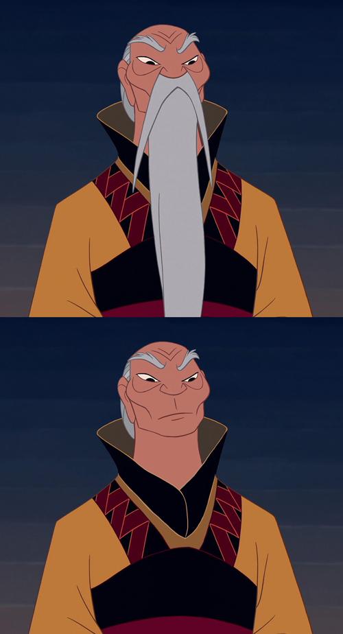 迪士尼裡的男人們失去鬍子,變很雞肋2