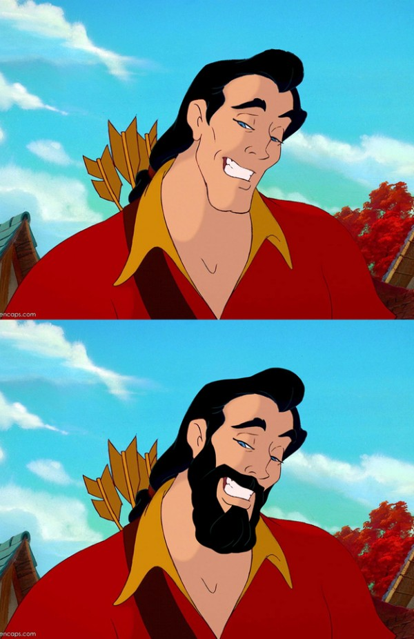 迪士尼裡的男人們失去鬍子,變很雞肋8
