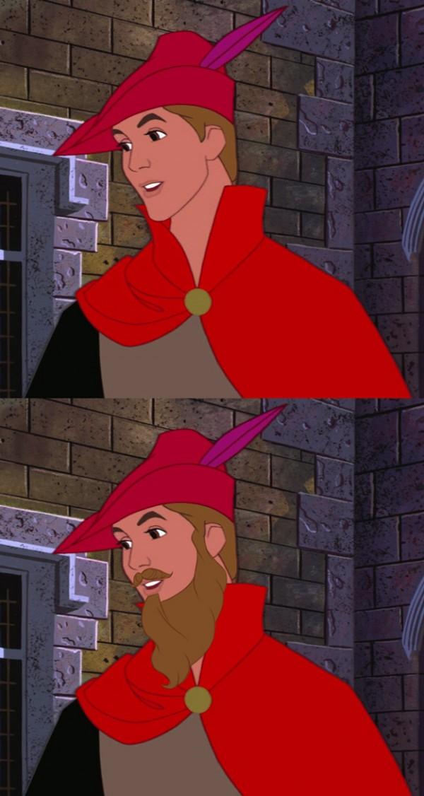 迪士尼裡的男人們失去鬍子,變很雞肋9