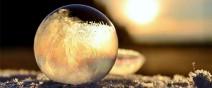 -9℃吹出的結冰泡泡是世界上短暫的美麗