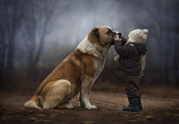 農場裡和動物一起長大的兩個孩子2