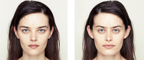 左右臉對稱比較