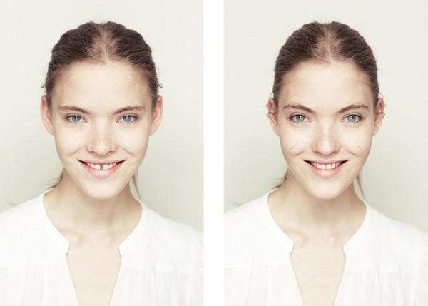 左右臉對稱比較1
