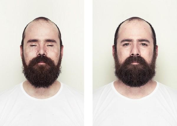 左右臉對稱比較10