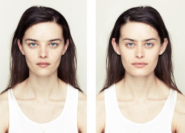 左右臉對稱比較2