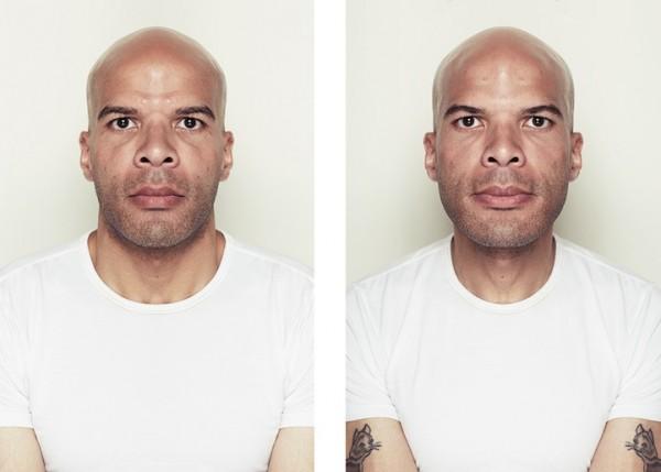 左右臉對稱比較4