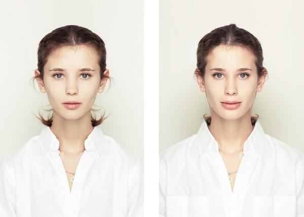 左右臉對稱比較5
