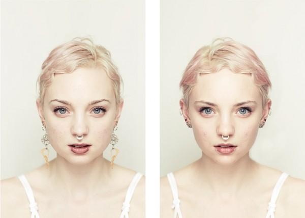 左右臉對稱比較6