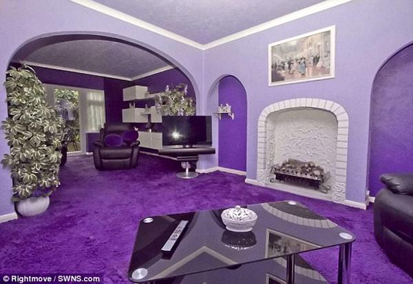全紫色的房子8