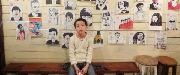 10歲畫家聞名日本,因為他的畫風長這樣