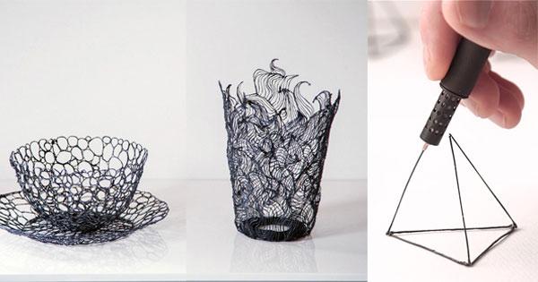 3D列印筆讓你在空中畫出立體圖案