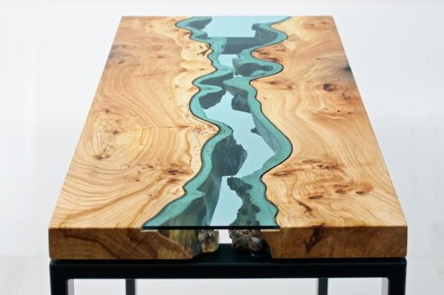 玻璃木桌1