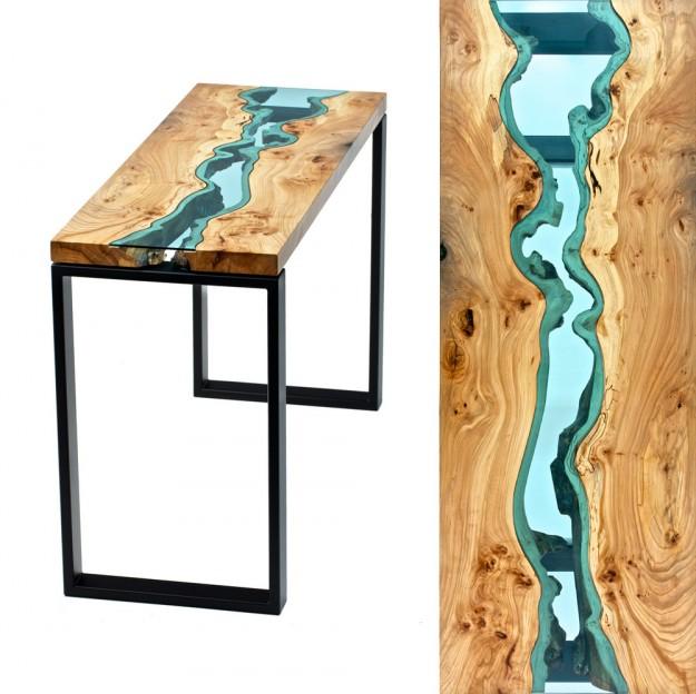 玻璃木桌2