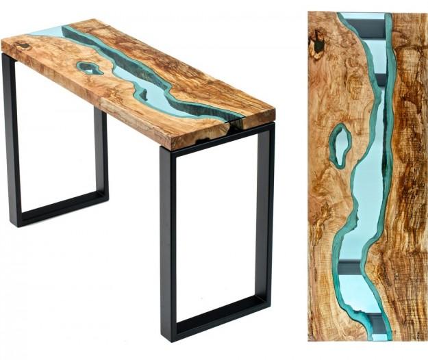 玻璃木桌4