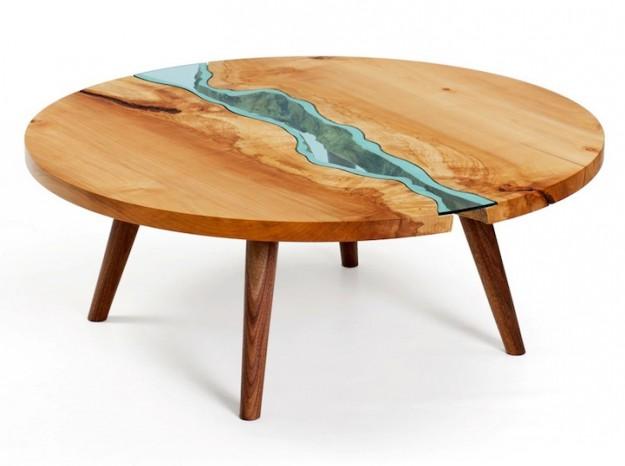玻璃木桌5
