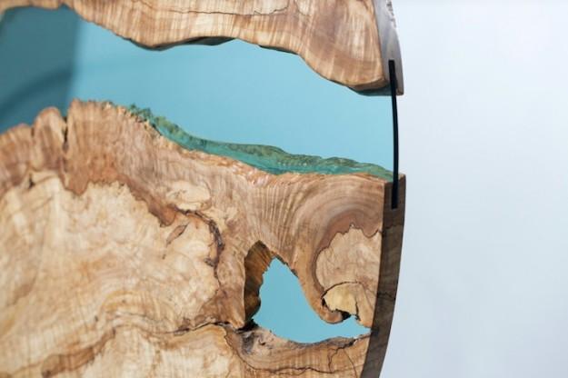 玻璃木桌6