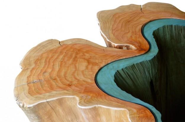 玻璃木桌8