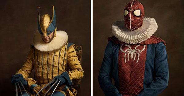 當超級英雄們通通被換上16世紀的古典服裝..