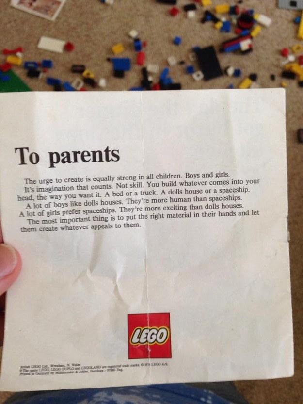 LEGO致父母1