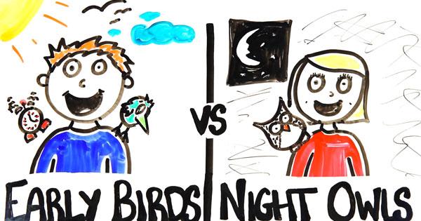 早起早睡的人 vs 晚起晚睡的人,比較容易成功的是…