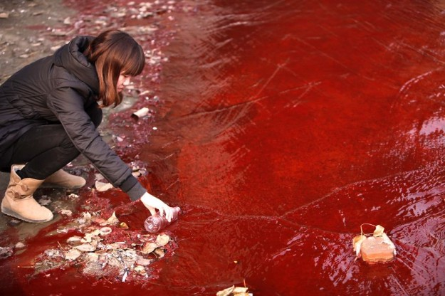 CHINA-ENVIRONMENT-POLLUTION-RIVER