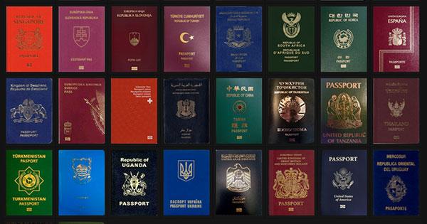 世界各國護照的設計、顏色、最強大到最雞肋排名