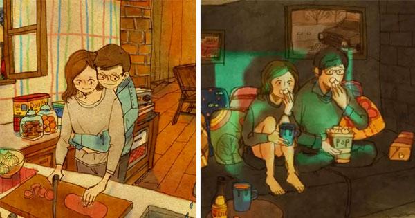 25幅畫讓你看見平凡生活中的這25件小事,各個都是愛